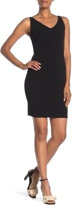 Bebe V-Neck Sleeveless Dress