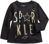 First Impressions Sparkle-Print Cotton T-Shirt, Baby Girls (0-24 months), Created for Macy's