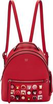 Fendi Red Mini Studded Backpack