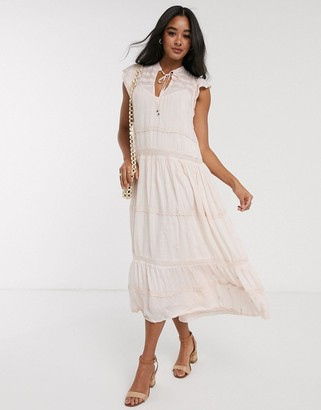 Free People midnight midi dress-White