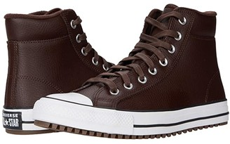 Converse Chuck Taylor All Star Padded Collar Boot - Hi (Dark Root/White/Black) Lace up casual Shoes