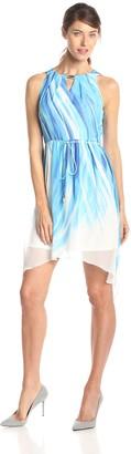 Sandra Darren Women's Swirl Print Chiffon Dress