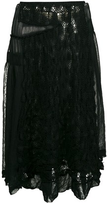 Comme Des Garçons Pre-Owned Embroidered Lace Skirt