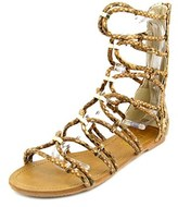 XOXO Galina Women Open Toe Synthetic Tan Gladiator Sandal.