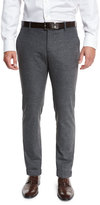Giorgio Armani Melange Flat-Front Trousers, Gray