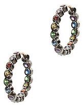 SheBee Mini Multi Sapphire Hoop Earrings