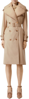 Burberry Puffer-Collar Trench Coat