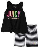Juicy Couture Tank & Bike Shorts Set (Big Girls)