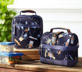 Pottery Barn Kids Mackenzie Blue Robot Lunch Bags