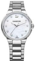 Swarovski City Pave White-Dial Bracelet Watch