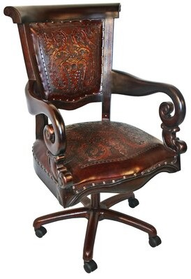 Canora Grey Brawley Genuine Leather Task Chair Canora Grey Color: Antique Brown