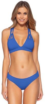 Becca by Rebecca Virtue Color Code Split Strap Halter (Coral Crush) Women's Swimwear