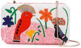 Alice + Olivia Alice+Olivia - bird embroidered clutch - women - Cotton/PVC - One Size