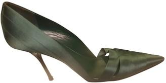 Gucci Green Cloth Heels