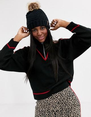 Asos DESIGN two-piece ski animal sweater with zip detail