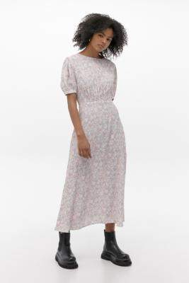 Faithfull The Brand Beline Maxi Dress - Pink XS at Urban Outfitters