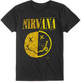 New World Men's Nirvana Split Smiley Logo-Print T-Shirt