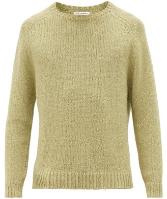 Our Legacy Raglan-sleeved Silk-blend Sweater - Mens - Green