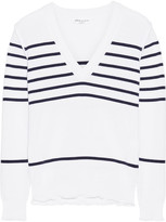 Sonia Rykiel Striped Knitted Sweater - White