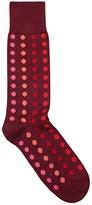 Paul Smith Navy Polka-dot Cotton Blend Socks
