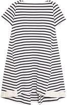 Sacai Dixie Striped Cotton Mini Dress - Midnight blue