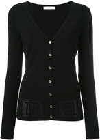 Versace pinhole detailed cardigan - women - Polyester/viscose - 40