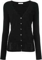 Versace pinhole detailed cardigan - women - Polyester/viscose - 46