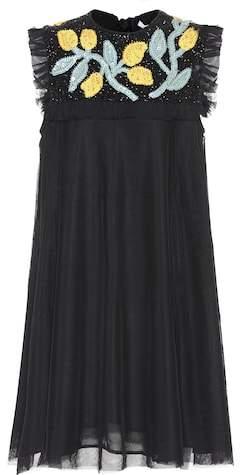 Ganni Orsay embellished dress