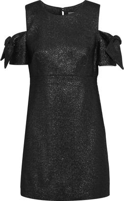 Milly Mod Cold-shoulder Glittered Cady Mini Dress