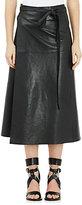 Isabel Marant Women's Leather Candy Wrap Skirt-BLACK