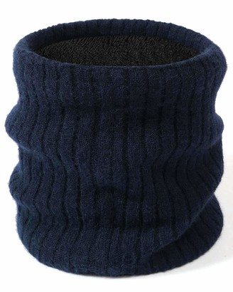 CMTOP Unisex Warm Knitted Scarf Thick Winter Circle Scarf Skiing Hat for Outdoor Sports Knitted Scarf Thermal Neck Warmer for Ladies Warm Fleece Lined Chunky Knit Thermal Neck Warmer