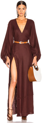 STAUD Cleo Dress in Bean   FWRD