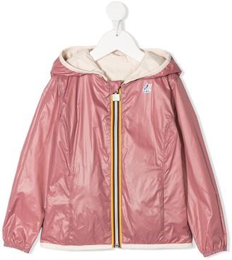 K Way Kids Contrast Zip Up Rain Jacket