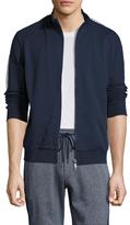 Bikkembergs Cotton Knit Zip Front Sweater