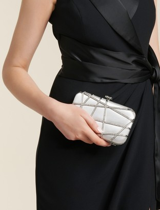 Forever New Stella Jewelled Clutch - Grey - 00