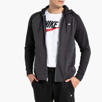 Nike Cotton Mix Zip-Up Hoodie with Pockets