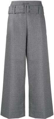 Marni Flared High Waisted Trousers With Belt