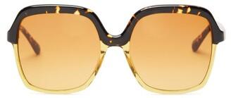 KALEOS Clarke Tortoiseshell-acetate Sunglasses - Tortoiseshell