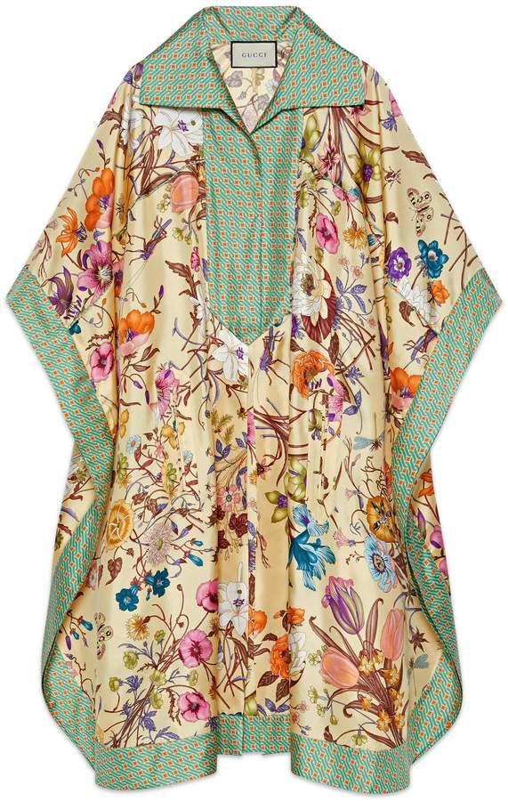 Gucci Flora print silk kaftan