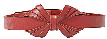 Fossil Leather Bow Belt