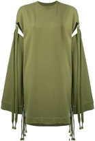 Fenty X Puma - sleeve tie sweatshirt - women - Cotton/Polyester/Spandex/Elastane - XS