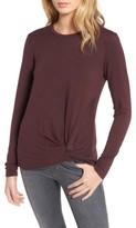 Stateside Women's Twist Front Fleece Sweatshirt