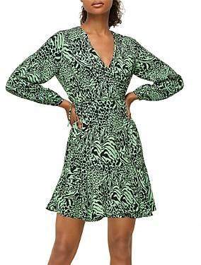 Whistles Zebra Print Wrap Dress