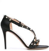 Valentino Garavani Valentino Rockstud sandals - women - Leather/PVC/Satin Ribbon - 36