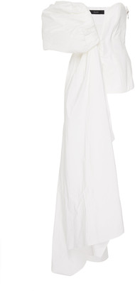 Ellery Antigua Draped Cotton-Blend High-Low Top