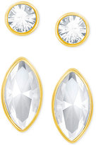 Swarovski Gold-Tone 2-Pc. Set Crystal Stud Earrings