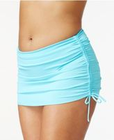 Island Escape Plus Size Side-Tie Swim Skirt