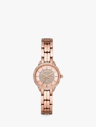 Michael Kors Women's Allie Crystal Bracelet Strap Watch