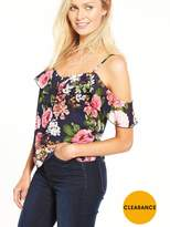 Very Frill Cold Shoulder Printed Cami