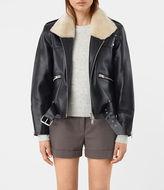 AllSaints Mcguire Leather Biker Jacket